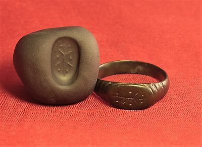 Ancient Hellenic Seal Ring, Finger Ring, 2500 Years Old