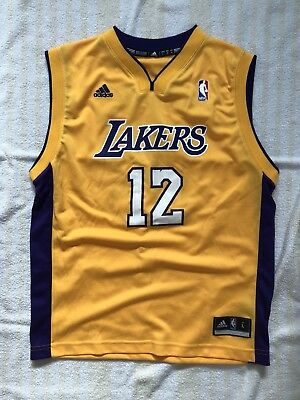 3c9069a6c ADIDAS Los Angeles Lakers 12 Dwight Howard NBA Kids Jersey SZ Youth Large  Lebron