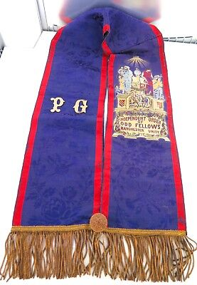.rare / Vintage I.o.o.f. Independent Order Of Odd Fellows Cerimonial Sash.