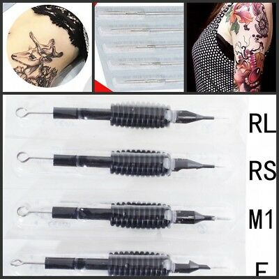 Sterile Disposable Tattoo Needles/Tube Grip Tip 3/5/7/11/15 RL/RS/F/M1 Wholesale