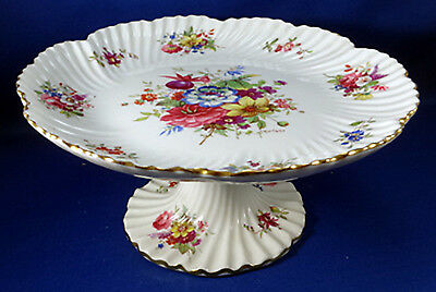 Hammersely Howard Sprays Signed Cake Rococo Tazza Comport Compote Flowers