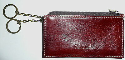 Colorado Leather Keyring Coin Purse Card Holder Older Style Key Ring