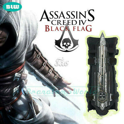 Men Boy Assassins Creed 4 Cosplay Black Flag Hidden Blade Edward Gauntlet