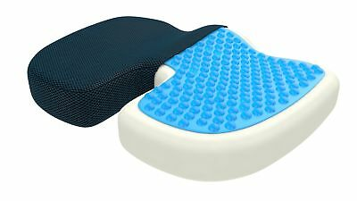 Orthopedic Coccyx Seat Cushion, Gel   Memory Foam Seat Pillow, Relieves Back, Sc