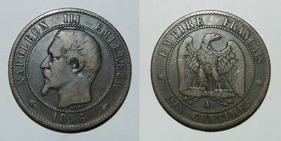France :  10 Centimes 1856 A - Napoleon Iii