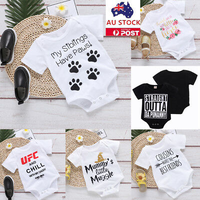 Newborn Baby Boys Infant Romper Jumpsuit Playsuit Bodysuit Outfits Set Clothes