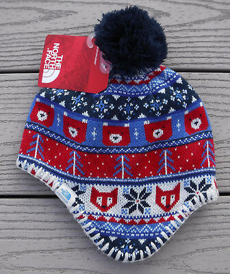 NWT THE NORTH FACE Baby Faroe Fleece Lined Boys Beanie Hat-XS (6-24 Months) @$28