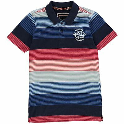 SoulCal Kids Boys Multi Polo Shirt Junior Classic Fit Tee Top Short Sleeve