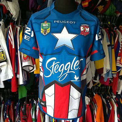 Sydney Roosters 2014 Special League Rugby Shirt Captain America Isc Size Adult L
