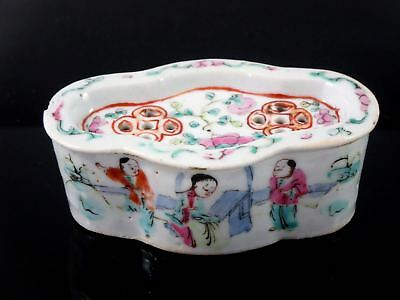 19th c. CHINESE EXPORT Porcelain Famille Rose CRICKET CAGE BOX POTPOURRI POT