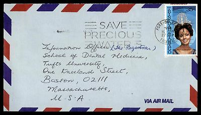 PORT OF SPAIN SEP 27 1978 35c MISS UNIVERSE ISSUE &  SAVE WATER SLOGAN CANCEL ON