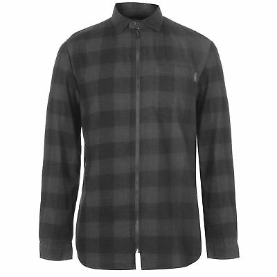 Jack and Jones Mens Originals Checked Shirt Long Sleeve Casual Cotton Zip Chest