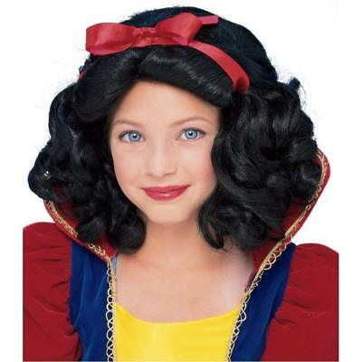 Rubies Storybook Princess Snow White Child's Wig One Size Style #50855 Ages 6+