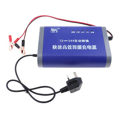 New Battery Charger 10 Amp 12V / 24V for Car Auto Caravan Motorcycle UK Plug