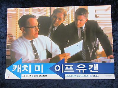 CATCH ME IF YOU CAN lobby card # 8 TOM HANKS, STEVEN SPIELBERG