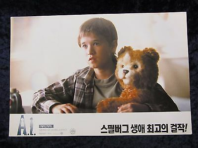 Artificial Intelligence lobby card # KR4 -  Joel Haley Osment, Steven Spielberg