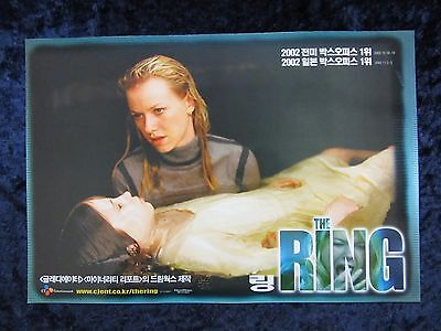 The Ring lobby card # 2 Naomi Watts, Martin Henderson, Horror