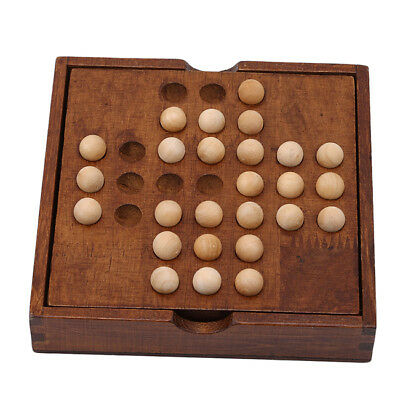 New Wooden Puzzles Marble Solitaire Chess Games Intelligence Entertainment Toy Z
