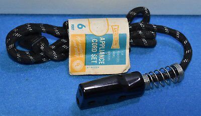 Vtg NOS LEVITON Small Appliance CORD 6 FT Cloth Spring for Toaster Irons Heaters