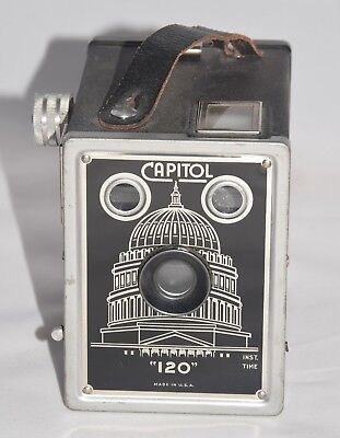 Vintage Capitol 120 Box Camera 1930's Made by Metropolitan Industries