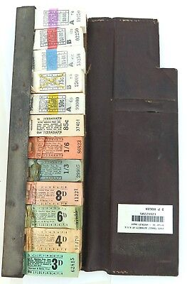 .100's & 100's NSW OMNIBUS & TRANSIT AUTHORITY TICKETS IN EMPLOYEES FOLDER