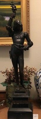 Lovely French Bronze or Bronze Patina Statue Joan of Arc with Torch of Liberty