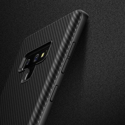 For Samsung Note 9 S9 S8 S10 Plus Shockproof Carbon Fiber Soft TPU Case Cover