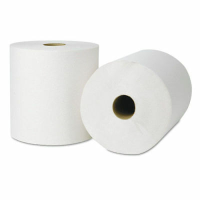Tork 218004 Ecosoft White Roll Towels, 800 ft. x 8 in., 6 Rolls/Carton New