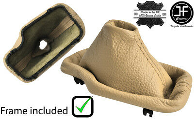 SAND STITCH LEATHER AUTOMATIC GEAR GAITER+PLASTIC FRAME FOR BMW E46 99-05 M//////