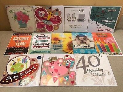 72 Greeting Cards Top Quality Birthday Wedding 3D Shop Joblot Wholesale Lot 33