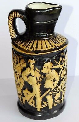 Rare Art Handmade Antique BIG Germany Jug Wine Pitcher Vase Glaze Pottery Mark