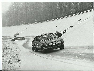 Opel Kadett GTE Rally 1978 Car #41 in The Snow Original Photograph