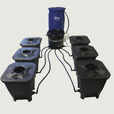 Nutriculture IWS DWC Deep Water Culture System 6,12,18,24 Pot ink. Flextank Grow
