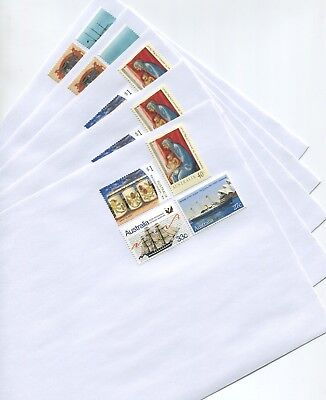 50 White C5 Size Envelopes With $2 Postage Affixed - Ready To Use