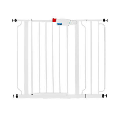 Regalo Easy Step Walk Through Pressure Mounted Steel Baby Safety Gate with Door