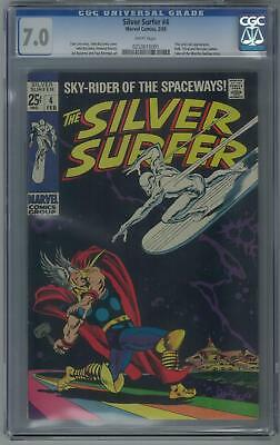 Silver Surfer #4 CGC 7.0 (W) Classic Cover Thor and Loki appearance