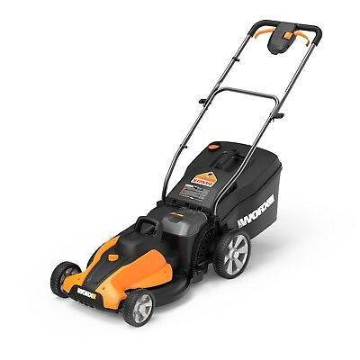 "WORX WG744 2X20V PowerShare 17"" Cordless Electric Lawn Mower - Tool Only"