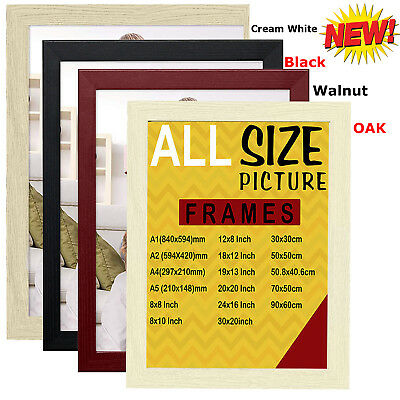 Photo Frame Picture Poster Frame Black Beech Gold Silver Walnut White FLAT