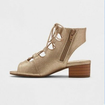 2a6366f6bf4e Girl Gladiator Sandal - Stevies  ohmy - Gold Sandals - Size 3