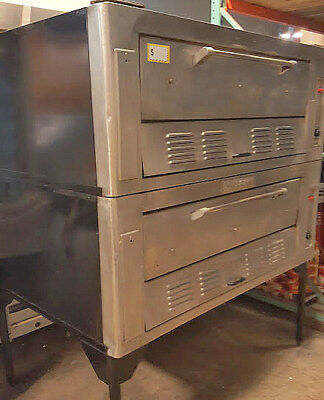 "DEAL! 60"" Pizza Ovens & Exhaust Hood 2 Deck Vulcan Double Stacked Natural Gas"