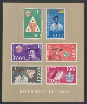 Togo - 1961, Boy Scout Movement (Brown) sheet - MNH - SG MS286a
