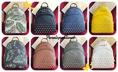28ecb26ea110a2 Nwt Michael Kors Pvc Or Studded Leather Abbey Medium Backpack Bag In Various