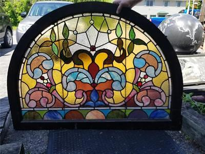 Beautiful Antique Victorian Stained Glass Window From A Local Estate - Jj2