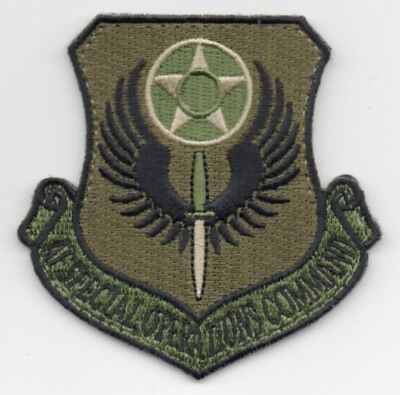 """USAF Patch   AF SPECIAL OPS COMMAND - OCP coloration 3"""" X 3"""" with hook side back"""