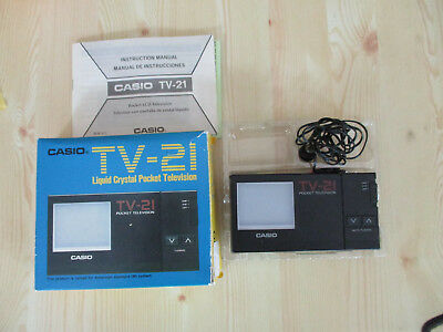 Vintage CASIO TV-21 Liquid Crystal POCKET TELEVISION - Good for Parts Only