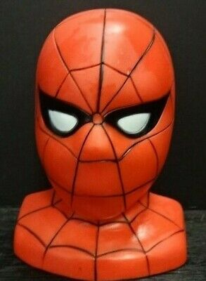 Vintage 1986 Marvel The Amazing Spider-Man Money Coin Piggy Bank ~ No Stopper