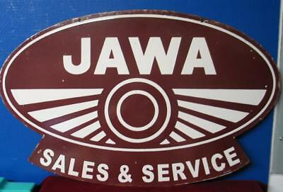 t Ultra-Rare JAWA CZ MOTORCYCLE Double sided Porcelain Sign