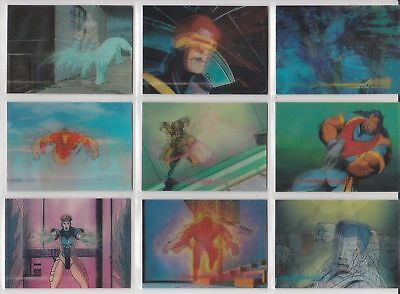MARVEL MOTION  1996    BASE / BASIC CARDS  001 to 030 BY SKYBOX.
