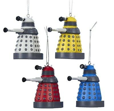 Doctor Who Colorful Miniature Dalek 4 Piece Christmas Ornament Set DW3151 New
