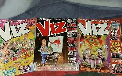 X3 Viz Comic Magazines Issues #258 #259 #260 VGC UK POST